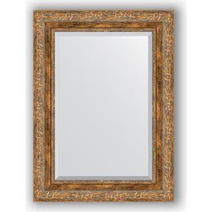 Зеркало с фацетом в багетной раме поворотное Evoform Exclusive 55x75 см, виньетка античная бронза 85 мм (BY 3384) зеркало с фацетом в багетной раме поворотное evoform exclusive 115x175 см виньетка античная бронза 85 мм by 3618