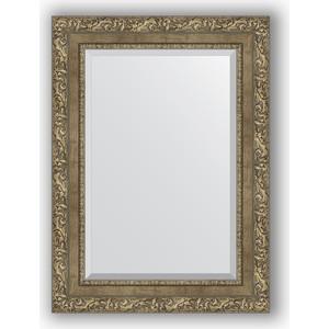 Зеркало с фацетом в багетной раме поворотное Evoform Exclusive 55x75 см, виньетка античная латунь 85 мм (BY 3385) зеркало с фацетом в багетной раме evoform exclusive 75x165 см виньетка античная латунь 85 мм by 3593