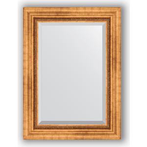 Зеркало с фацетом в багетной раме поворотное Evoform Exclusive 56x76 см, римское золото 88 мм (BY 3386)