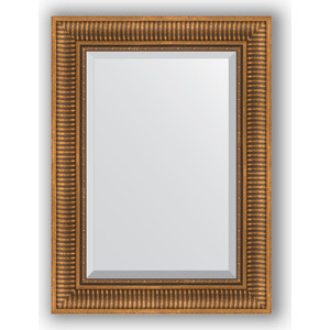 Зеркало с фацетом в багетной раме поворотное Evoform Exclusive 57x77 см, бронзовый акведук 93 мм (BY 3388) зеркало с фацетом в багетной раме evoform exclusive 47x57 см бронзовый акведук 93 мм by 3362