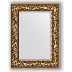 Зеркало с фацетом в багетной раме поворотное Evoform Exclusive 59x79 см, византия золото 99 мм (BY 3389) цена
