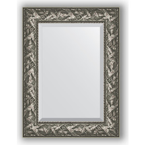 Зеркало с фацетом в багетной раме поворотное Evoform Exclusive 59x79 см, византия серебро 99 мм (BY 3390) цена