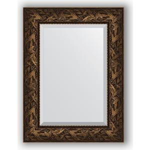 Зеркало с фацетом в багетной раме поворотное Evoform Exclusive 59x79 см, византия бронза 99 мм (BY 3391) цена