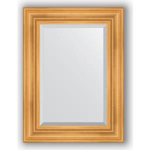 Зеркало с фацетом в багетной раме поворотное Evoform Exclusive 59x79 см, травленое золото 99 мм (BY 3392) цена