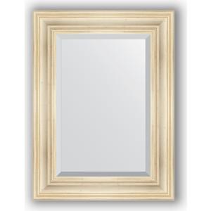 Зеркало с фацетом в багетной раме поворотное Evoform Exclusive 59x79 см, травленое серебро 99 мм (BY 3393) цена
