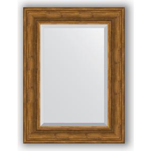 Зеркало с фацетом в багетной раме поворотное Evoform Exclusive 59x79 см, травленая бронза 99 мм (BY 3394) цена