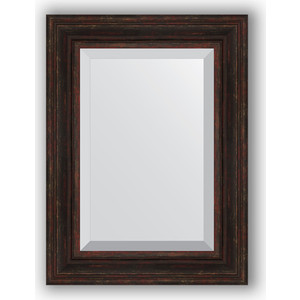 Зеркало с фацетом в багетной раме поворотное Evoform Exclusive 59x79 см, темный прованс 99 мм (BY 3395) зеркало с фацетом в багетной раме поворотное evoform exclusive 53x83 см прованс с плетением 70 мм by 3407