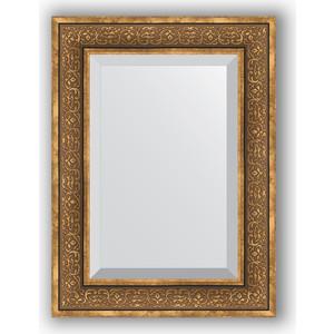 Зеркало с фацетом в багетной раме поворотное Evoform Exclusive 59x79 см, вензель бронзовый 101 мм (BY 3396) зеркало с фацетом в багетной раме поворотное evoform exclusive 53x83 см прованс с плетением 70 мм by 3407