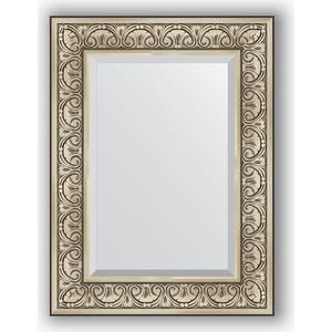 Зеркало с фацетом в багетной раме поворотное Evoform Exclusive 60x80 см, барокко серебро 106 мм (BY 3398) рюкзак adidas 3398