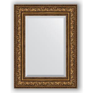 Зеркало с фацетом в багетной раме Evoform Exclusive 60x80 см, виньетка состаренная бронза 109 мм (BY 3401) evoform exclusive by 1239