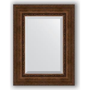 Фотография товара зеркало с фацетом в багетной раме Evoform Exclusive 62x82 см, состаренная бронза с орнаментом 120 мм (BY 3403) (572146)