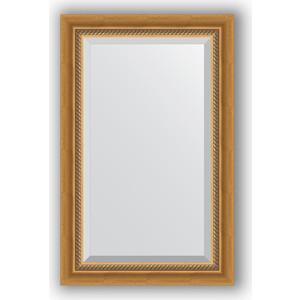 Зеркало с фацетом в багетной раме поворотное Evoform Exclusive 53x83 см, состаренное золото с плетением 70 мм (BY 3405) зеркало с фацетом в багетной раме поворотное evoform exclusive 53x83 см прованс с плетением 70 мм by 3407