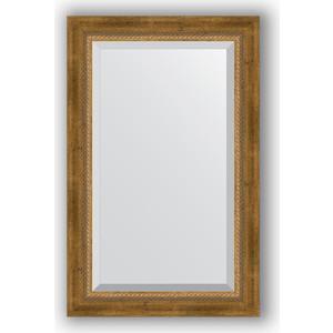 Зеркало с фацетом в багетной раме поворотное Evoform Exclusive 53x83 см, состаренное бронза с плетением 70 мм (BY 3406) зеркало с фацетом в багетной раме поворотное evoform exclusive 53x83 см состаренное золото с плетением 70 мм by 3405