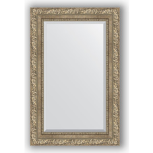 Зеркало с фацетом в багетной раме поворотное Evoform Exclusive 55x85 см, виньетка античное серебро 85 мм (BY 3409) зеркало с фацетом в багетной раме поворотное evoform exclusive 60x145 см виньетка античное серебро 85 мм by 3539
