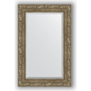 Зеркало с фацетом в багетной раме поворотное Evoform Exclusive 55x85 см, виньетка античная латунь 85 мм (BY 3411) зеркало с фацетом в багетной раме evoform exclusive 75x165 см виньетка античная латунь 85 мм by 3593