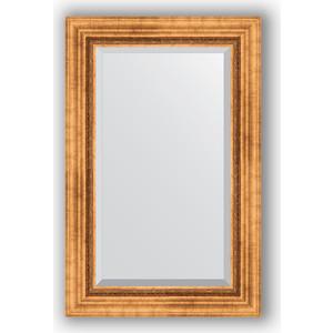 Зеркало с фацетом в багетной раме поворотное Evoform Exclusive 56x86 см, римское золото 88 мм (BY 3412) зеркало с фацетом в багетной раме evoform exclusive 56x86 см фреска 84 мм by 1239