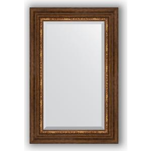 Зеркало с фацетом в багетной раме поворотное Evoform Exclusive 56x86 см, римская бронза 88 мм (BY 3413) evoform exclusive by 1161