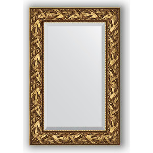 Зеркало с фацетом в багетной раме поворотное Evoform Exclusive 59x89 см, византия золото 99 мм (BY 3415)