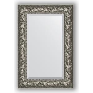 Зеркало с фацетом в багетной раме поворотное Evoform Exclusive 59x89 см, византия серебро 99 мм (BY 3416)