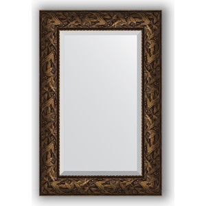 Зеркало с фацетом в багетной раме поворотное Evoform Exclusive 59x89 см, византия бронза 99 мм (BY 3417) зеркало напольное с фацетом поворотное evoform exclusive floor 114x203 см в багетной раме византия бронза 99 мм by 6166