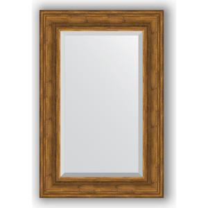 Зеркало с фацетом в багетной раме поворотное Evoform Exclusive 59x89 см, травленая бронза 99 мм (BY 3420) цена