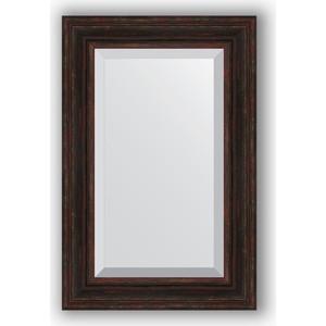 Зеркало с фацетом в багетной раме поворотное Evoform Exclusive 59x89 см, темный прованс 99 мм (BY 3421) зеркало с фацетом в багетной раме поворотное evoform exclusive 53x83 см прованс с плетением 70 мм by 3407