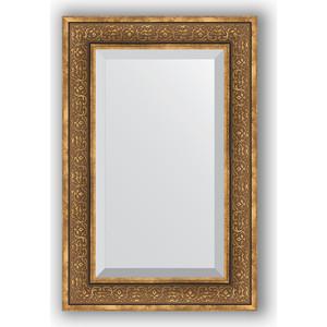 Фотография товара зеркало с фацетом в багетной раме Evoform Exclusive 59x89 см, вензель бронзовый 101 мм (BY 3422) (572165)