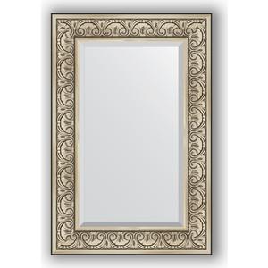 Зеркало с фацетом в багетной раме поворотное Evoform Exclusive 60x90 см, барокко серебро 106 мм (BY 3424) evoform exclusive by 1161