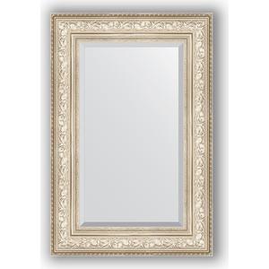 Зеркало с фацетом в багетной раме поворотное Evoform Exclusive 60x90 см, виньетка серебро 109 мм (BY 3426) evoform зеркало в багетной раме evoform 52x142 см 6322099 mpmxd6r 6322099