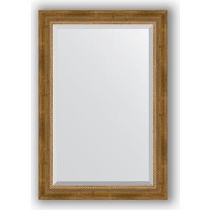 Зеркало с фацетом в багетной раме поворотное Evoform Exclusive 63x93 см, состаренное бронза с плетением 70 мм (BY 3432) цена