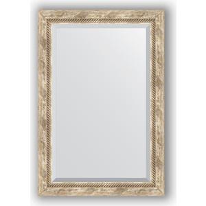 Зеркало с фацетом в багетной раме поворотное Evoform Exclusive 63x93 см, прованс с плетением 70 мм (BY 3433) evoform exclusive by 1239