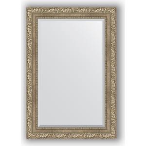 Зеркало с фацетом в багетной раме поворотное Evoform Exclusive 65x95 см, виньетка античное серебро 85 мм (BY 3435) зеркало с фацетом в багетной раме поворотное evoform exclusive 60x145 см виньетка античное серебро 85 мм by 3539