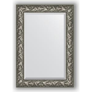 Зеркало с фацетом в багетной раме поворотное Evoform Exclusive 69x99 см, византия серебро 99 мм (BY 3442) evoform exclusive by 1161