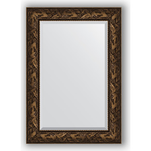 Зеркало с фацетом в багетной раме поворотное Evoform Exclusive 69x99 см, византия бронза 99 мм (BY 3443) зеркало напольное с фацетом поворотное evoform exclusive floor 114x203 см в багетной раме византия бронза 99 мм by 6166
