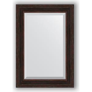 Зеркало с фацетом в багетной раме поворотное Evoform Exclusive 69x99 см, темный прованс 99 мм (BY 3447) зеркало с фацетом в багетной раме поворотное evoform exclusive 53x83 см прованс с плетением 70 мм by 3407