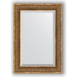 Зеркало с фацетом в багетной раме поворотное Evoform Exclusive 69x99 см, вензель бронзовый 101 мм (BY 3448) 3448 004