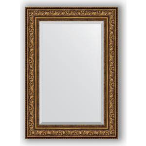 цена на Зеркало с фацетом в багетной раме Evoform Exclusive 70x100 см, виньетка состаренная бронза 109 мм (BY 3453)