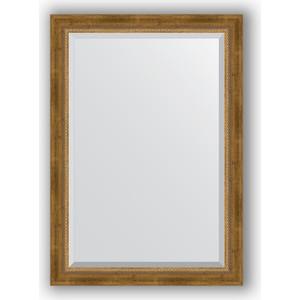 Зеркало с фацетом в багетной раме поворотное Evoform Exclusive 73x103 см, состаренное бронза с плетением 70 мм (BY 3458) зеркало с фацетом в багетной раме поворотное evoform exclusive 53x83 см прованс с плетением 70 мм by 3407