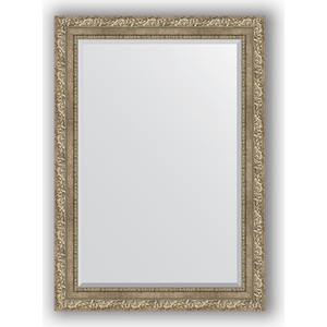 Зеркало с фацетом в багетной раме поворотное Evoform Exclusive 75x105 см, виньетка античное серебро 85 мм (BY 3461) зеркало с фацетом в багетной раме поворотное evoform exclusive 60x145 см виньетка античное серебро 85 мм by 3539