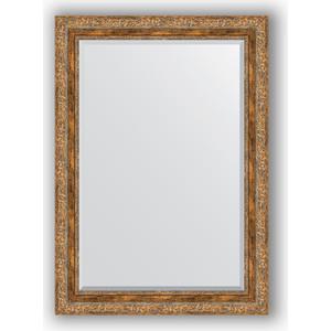 Зеркало с фацетом в багетной раме поворотное Evoform Exclusive 75x105 см, виньетка античная бронза 85 мм (BY 3462) зеркало с фацетом в багетной раме поворотное evoform exclusive 115x175 см виньетка античная бронза 85 мм by 3618
