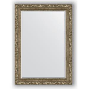 Зеркало с фацетом в багетной раме поворотное Evoform Exclusive 75x105 см, виньетка античная латунь 85 мм (BY 3463) зеркало с фацетом в багетной раме evoform exclusive 75x165 см виньетка античная латунь 85 мм by 3593