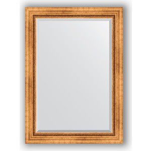 Зеркало с фацетом в багетной раме поворотное Evoform Exclusive 76x106 см, римское золото 88 мм (BY 3464)