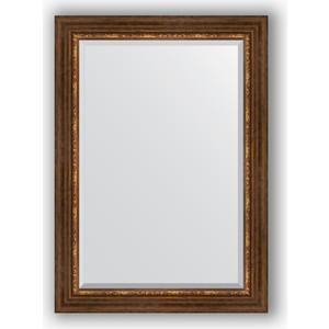 Зеркало с фацетом в багетной раме поворотное Evoform Exclusive 76x106 см, римская бронза 88 мм (BY 3465) evoform exclusive by 1161