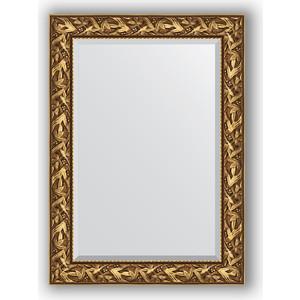 Зеркало с фацетом в багетной раме поворотное Evoform Exclusive 79x109 см, византия золото 99 мм (BY 3467)
