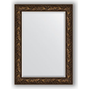 Зеркало с фацетом в багетной раме поворотное Evoform Exclusive 79x109 см, византия бронза 99 мм (BY 3469) зеркало напольное с фацетом поворотное evoform exclusive floor 114x203 см в багетной раме византия бронза 99 мм by 6166