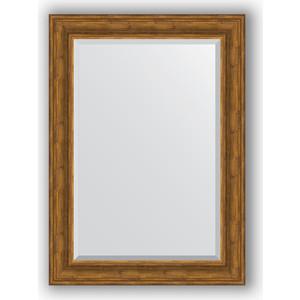 Зеркало с фацетом в багетной раме поворотное Evoform Exclusive 79x109 см, травленая бронза 99 мм (BY 3472) цена