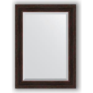 Зеркало с фацетом в багетной раме поворотное Evoform Exclusive 79x109 см, темный прованс 99 мм (BY 3473) зеркало с фацетом в багетной раме поворотное evoform exclusive 53x83 см прованс с плетением 70 мм by 3407
