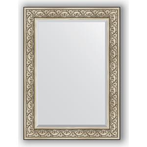 Зеркало с фацетом в багетной раме поворотное Evoform Exclusive 80x110 см, барокко серебро 106 мм (BY 3476) зеркало evoform by 3372