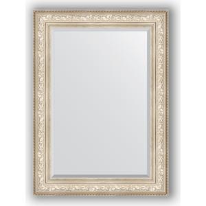 Зеркало с фацетом в багетной раме поворотное Evoform Exclusive 80x110 см, виньетка серебро 109 мм (BY 3478) губная помада gosh velvet touch 4 гр тон 154