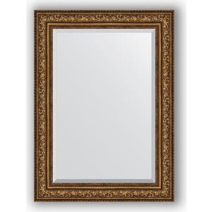 Зеркало с фацетом в багетной раме Evoform Exclusive 80x110 см, виньетка состаренная бронза 109 мм (BY 3479) evoform exclusive by 1239